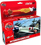 Airfix 1:72 Mitsubishi Zero Military Aircraft Category 1 Gift Set