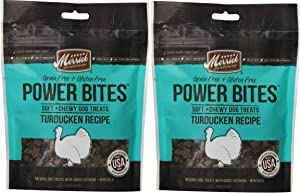 MERRICK TURDUCKEN POWER BITES MADE IN USA 2 PACK 12 Ounces Total DOG TREATS TRAINING