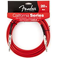Fender California 20-feet Instrument Cable, Candy Apple Red