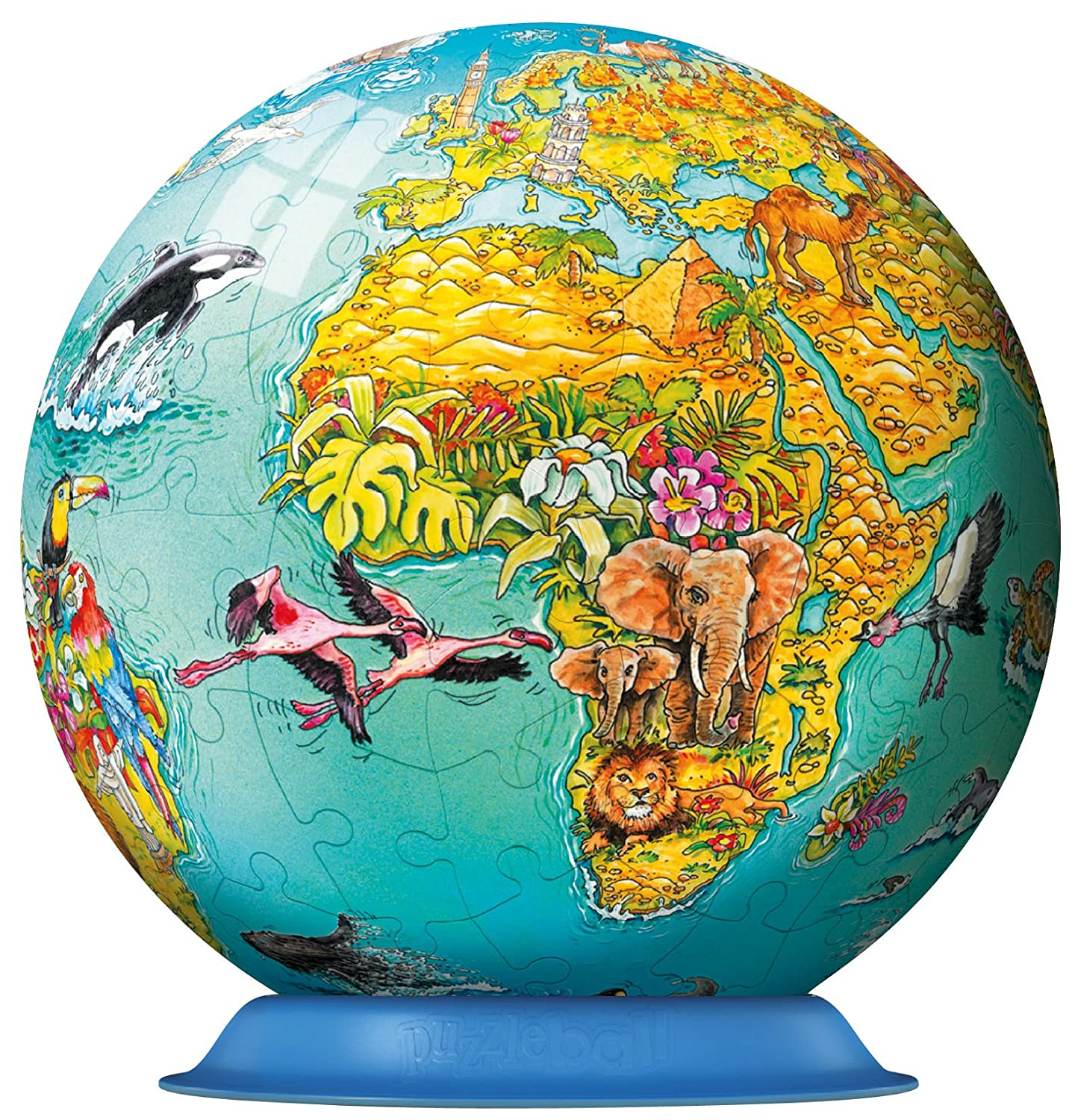 Amazon ravensburger childrens world map 108 piece childrens amazon ravensburger childrens world map 108 piece childrens puzzleball toys games gumiabroncs Image collections