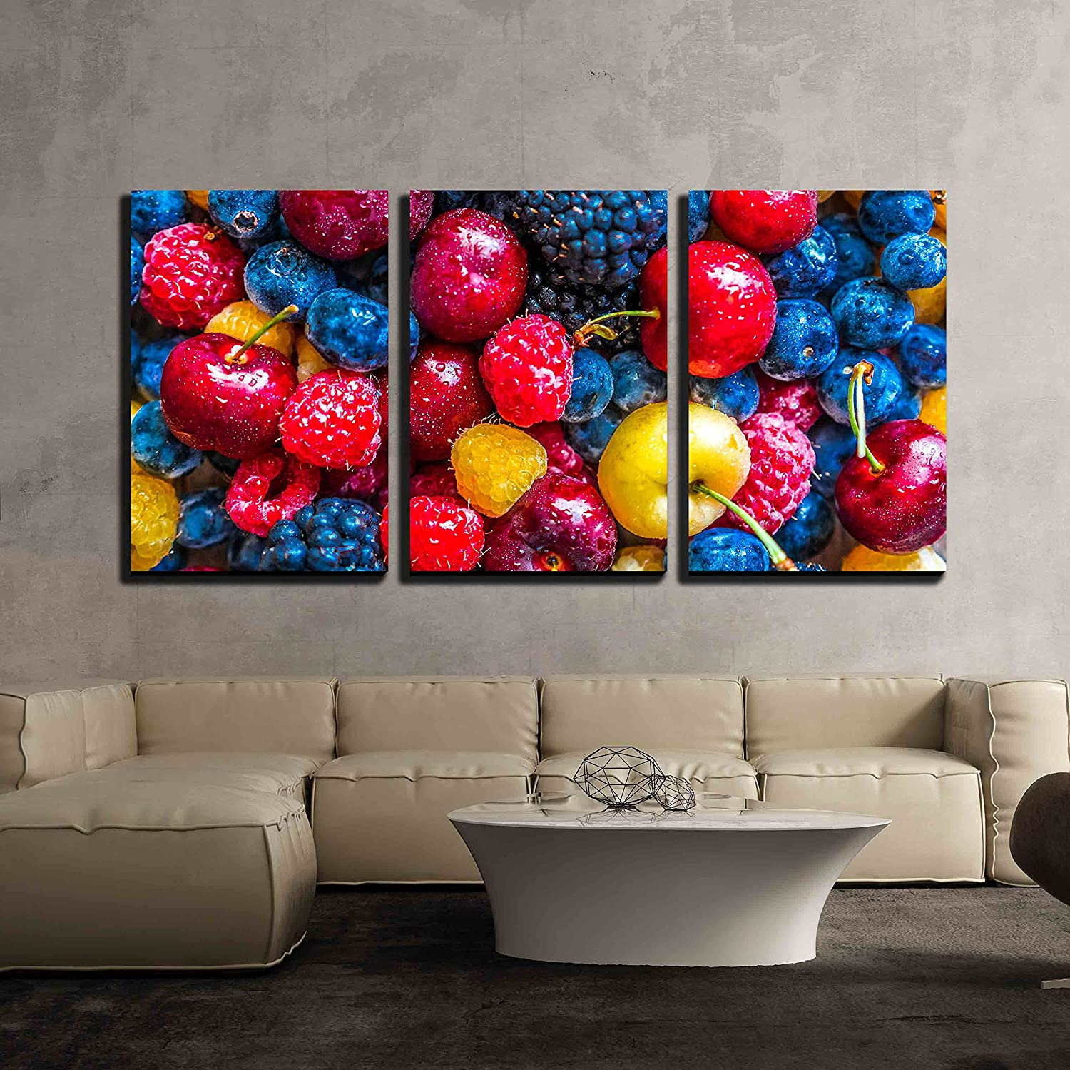 Wall26  3 Piece Canvas Wall Art  Mix Of