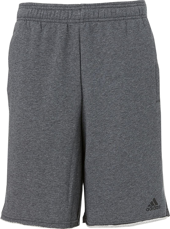16bc58fee7 Amazon.com : adidas Men's Essentials Raw-Edged Sweat Shorts (M, Dark ...