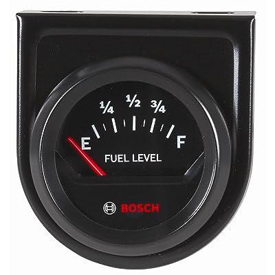 """Bosch SP0F000056 Style Line 2"""" Electrical Fuel Level Gauge (Black Dial Face, Black Bezel): Automotive"""