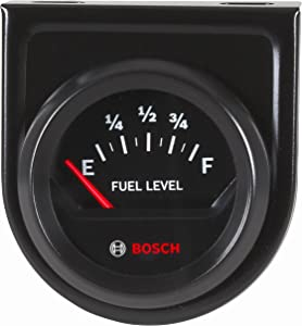 "Bosch SP0F000056 Style Line 2"" Electrical Fuel Level Gauge (Black Dial Face, Black Bezel)"