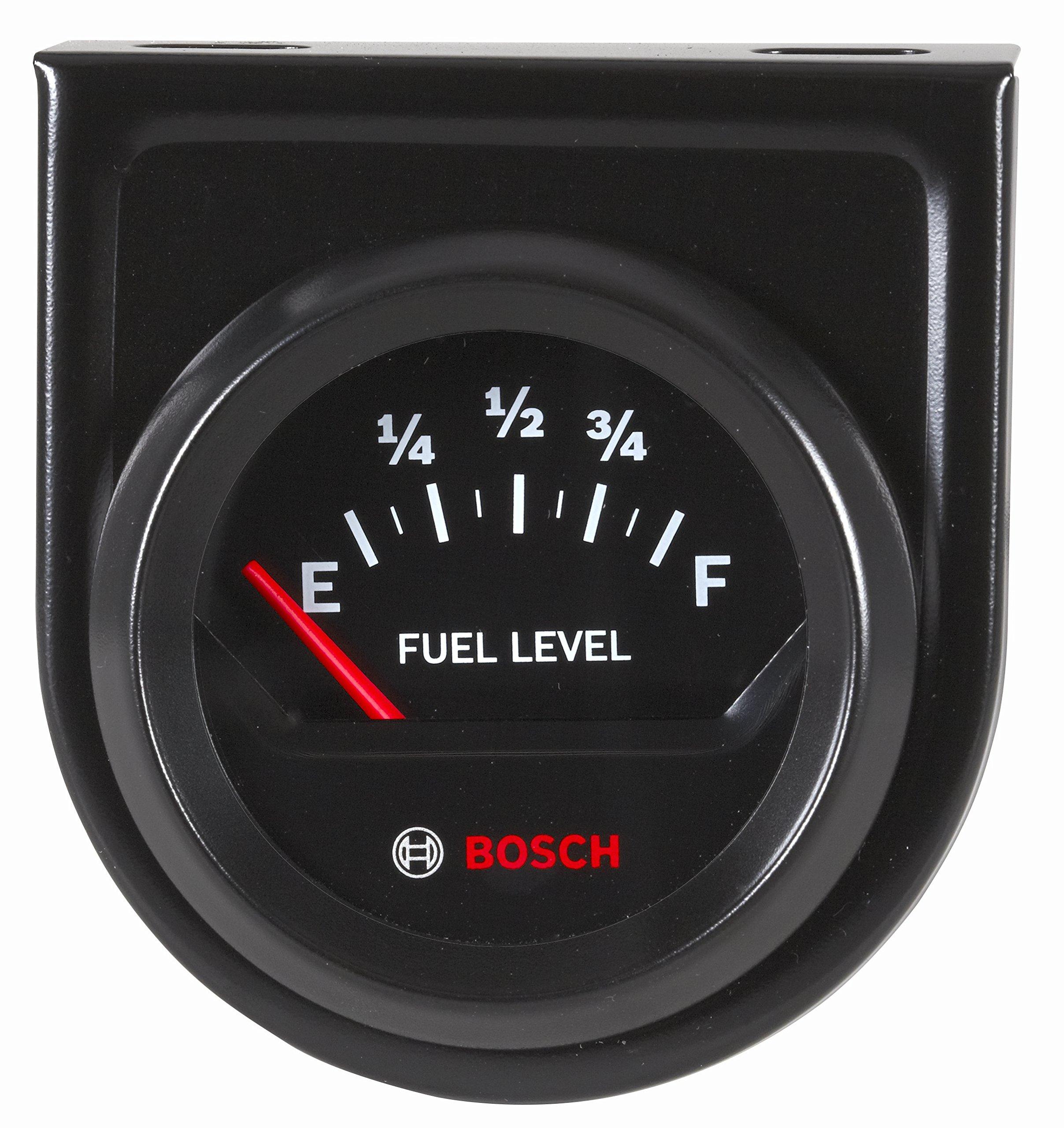 Bosch SP0F000056 Style Line 2'' Electrical Fuel Level Gauge (Black Dial Face, Black Bezel) by Bosch Automotive