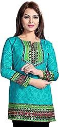 Women Fashion Printed Short Indian Kurti Tunic Kurta Top Shirt Dress 126B