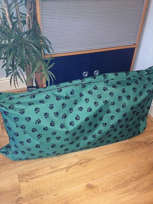 Verde grande impermeable perro cama extraíble lavable interior tamaño 48 pulgadas x28 pulgadas