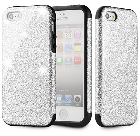 Amazon.com: MEKO Case for iPhone5/ 5s/ SE, Shiny Sparkle ...