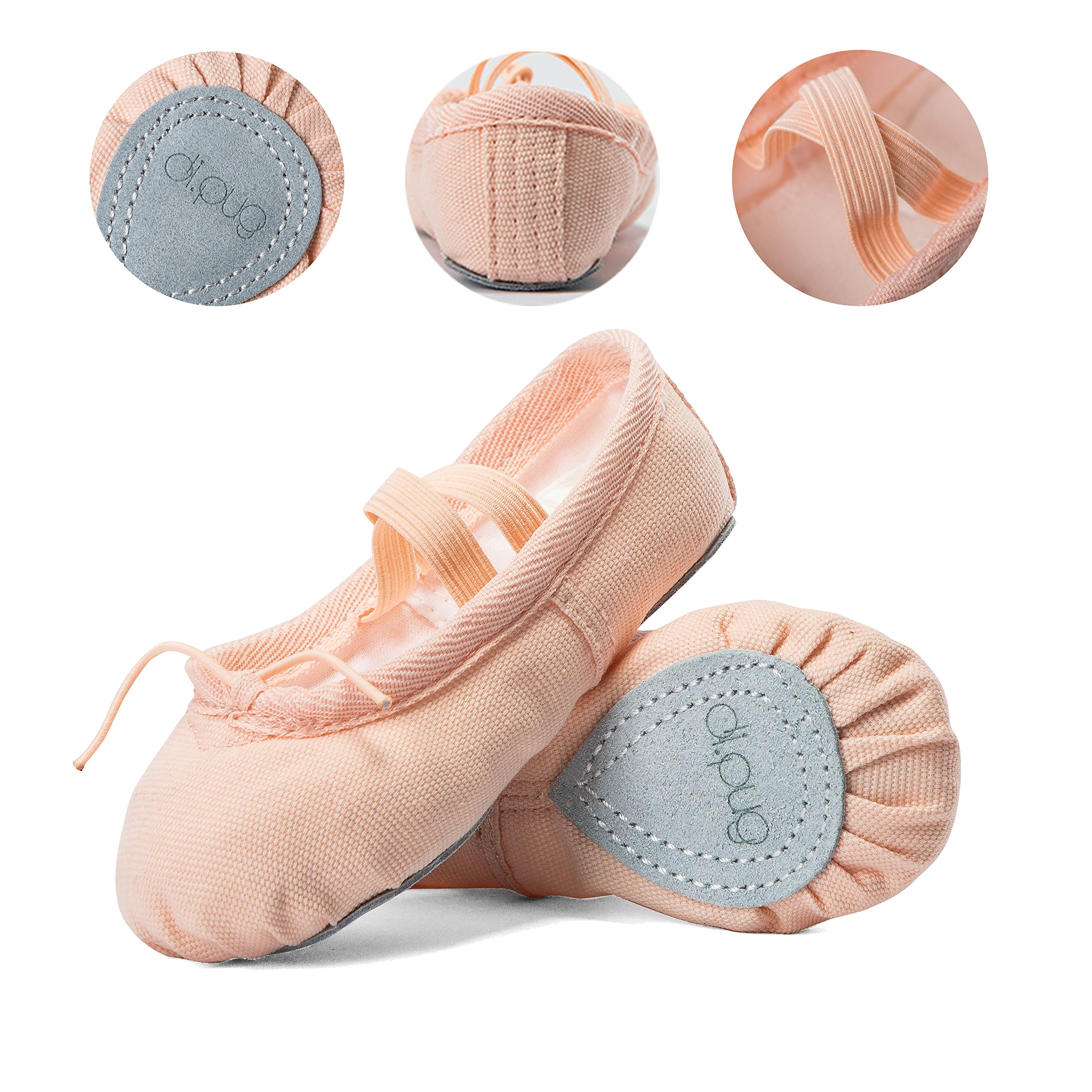 Ballet Shoes Ballet Slippers Girls Toddlers Canvas Dance Shoes Yoga Shoe (Toddler/Little Kid/Big Kid/Women) (US 8.5M Toddler, Ballet Pink)