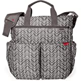 Skip Hop Baby Duo Signature Diaper Bag, Grey Feather