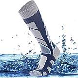 SuMade 100% Waterproof Breathable Socks, Unisex Knee High Skiing Cycling Hiking Climbing Socks 1 Pair