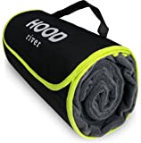 """Fleece Stadium Blanket Outdoor Waterproof Windproof Soft Warm Poly Fleece Picnic Blanket XL Large 59"""" x 79"""" Self-Folding w/Handle For Tailgating Outdoor Sports Camping and Concerts - Hood River"""