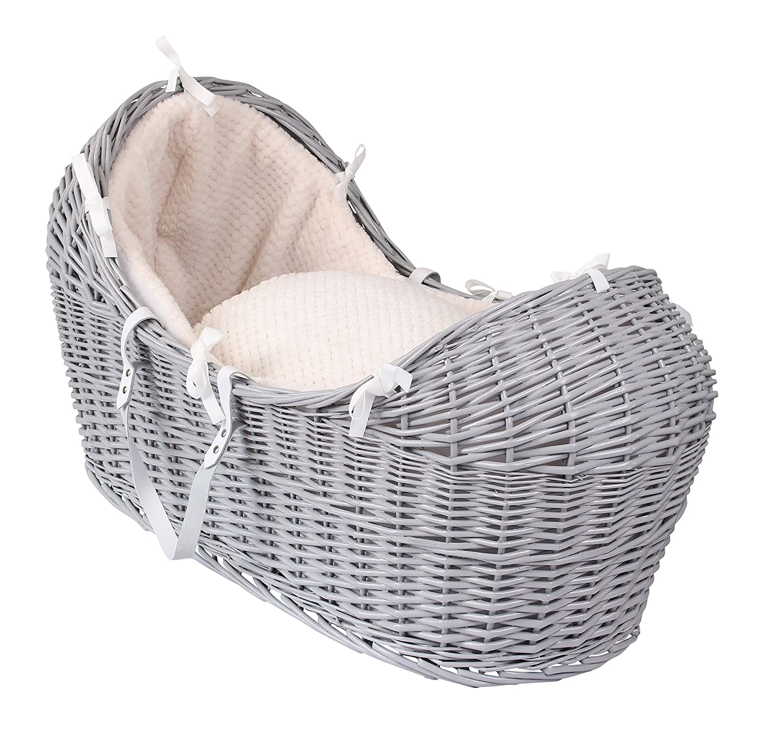Clair de Lune Honeycomb Grey Wicker Noah Pod, Cream CL5541GCM