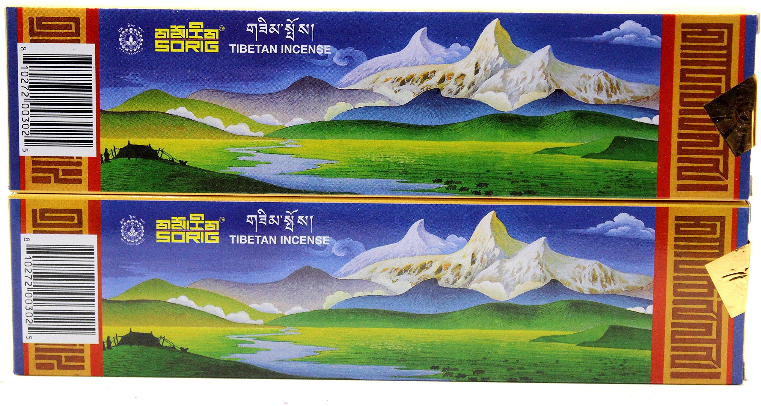 Handmade Tibetan Incense 80 Sticks (2 Boxes of 40 Sticks Each) By Men-Tsee-Khang