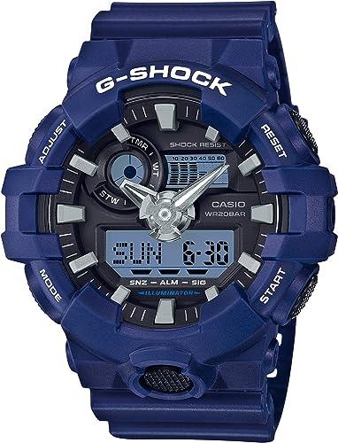 Amazon.com: Casio Men's G Shock Quartz Watch with Resin Strap, Blue, 25.8 (Model: GA-700-2ACR): Watches