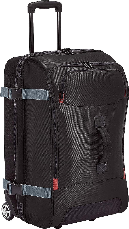 AmazonBasics – Bolsa de viaje Mediano con ruedas, Negro