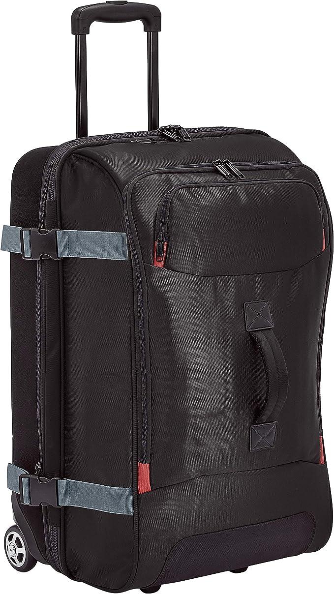 Amazon.com: AmazonBasics bolsa de viaje con ruedas, Negro ...
