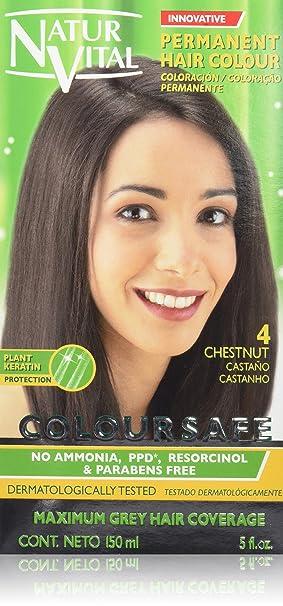 Naturaleza Y Vida Coloursafe Tinte Permanente Tono 4 Castaño, 150 ml