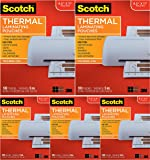 Scotch Brand Thermal Laminating Pouches, 5 Mil Thick for Extra Protection, 100-Pack, 8.9 x 11.4 inches, Letter Size Sheets, Clear (TP5854-100) - 5 Pack