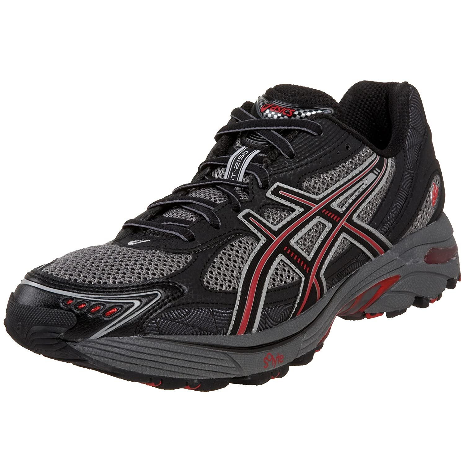 a5d4cae9a8 Amazon.com | ASICS Men's GT-2150 Trail Running Shoe, Black/Onyx/Red, 7 M |  Trail Running
