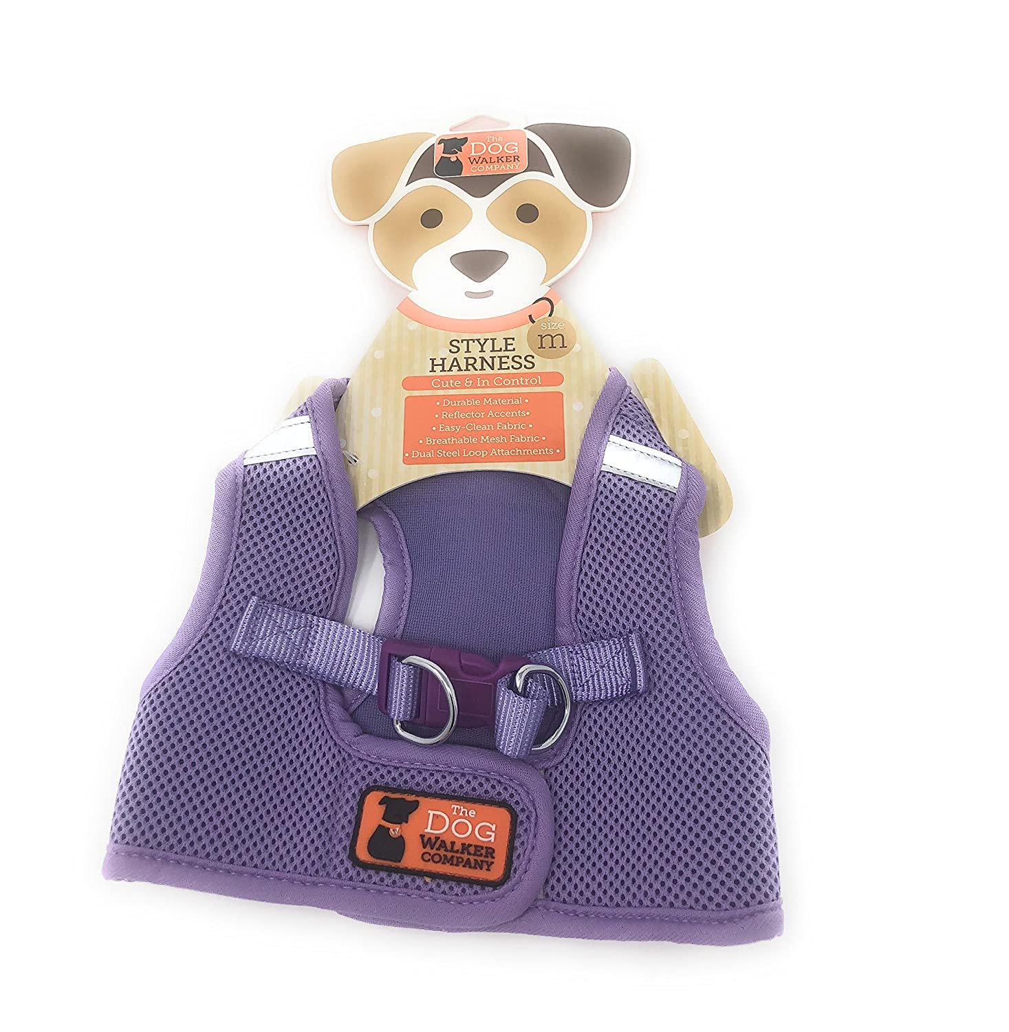 The Dog Walker Medium Style Harness  Purple