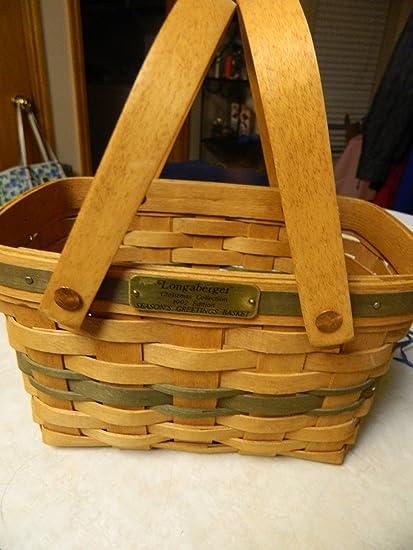 Longaberger Christmas Basket.Amazon Com Longaberger Christmas Collection 1992 Season S