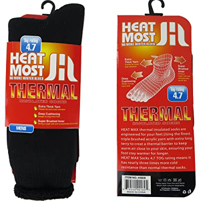 DEBRA WEITZNER Mens Thermal Socks - 1 Pair Insulated Heated Socks - Boot Socks For Extreme Temperatures at Men's Clothing store