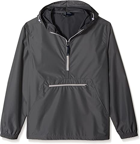 Charles River Apparel Pack-N-Go Wind & Water-Resistant Pullover (Reg/Ext Sizes)