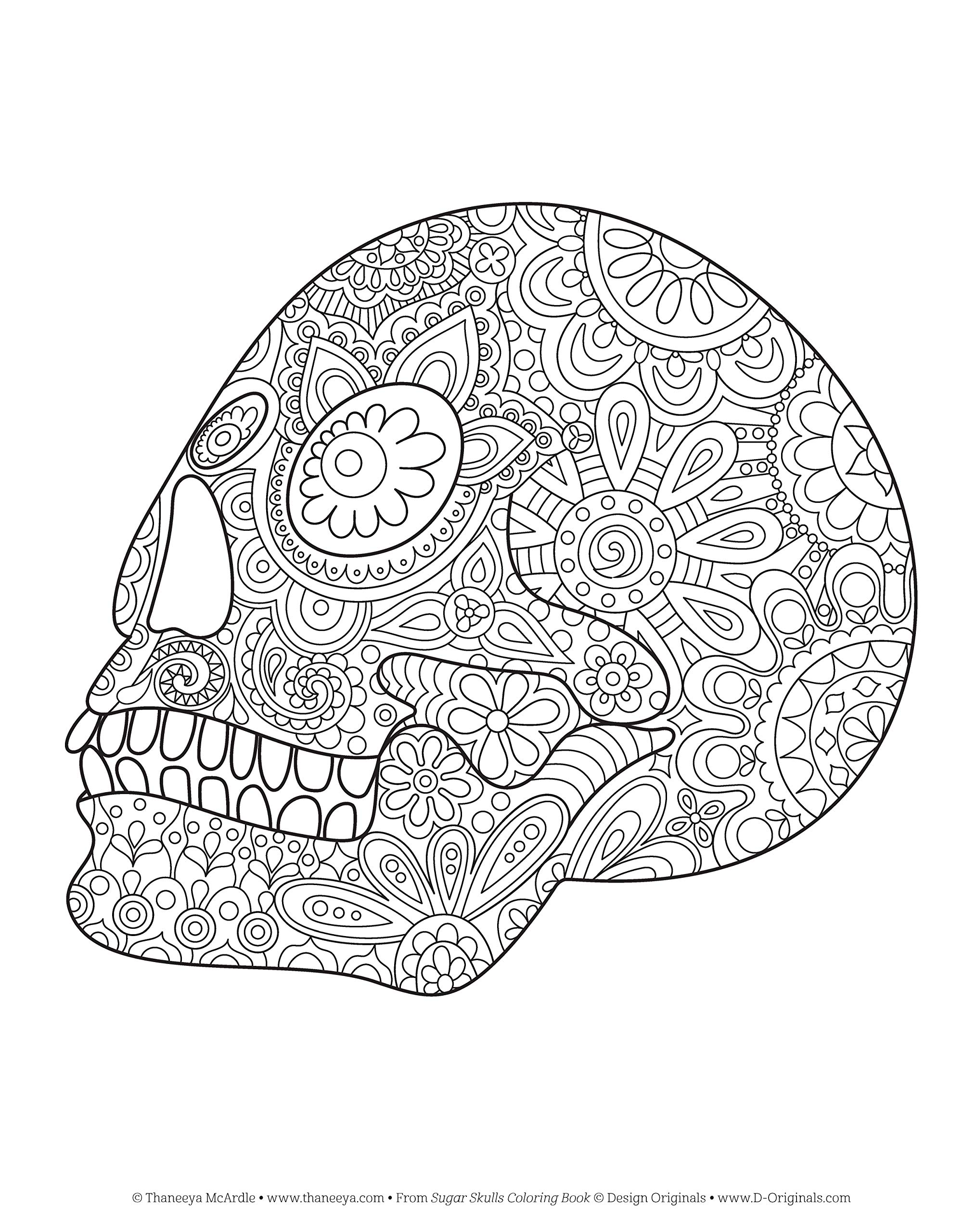 - Amazon.com: Sugar Skulls Coloring Book (Coloring Is Fun) (Design