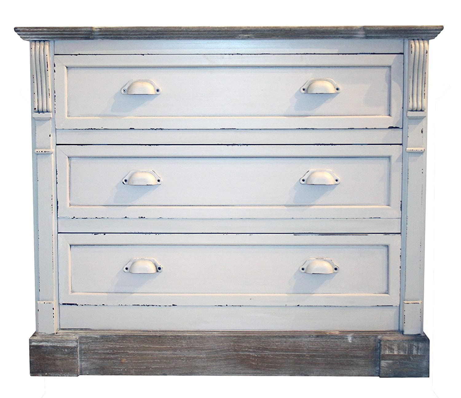 Charles Bentley White Shabby Chic Vintage French Style Chest 3