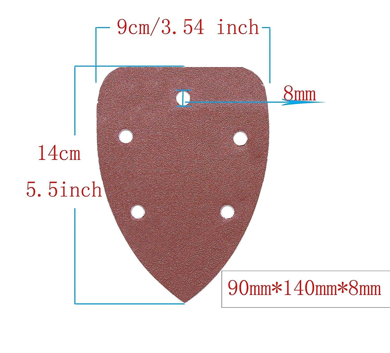 Aewio 5 inch 8 Holes Sanding Discs 60 80 120 180 240 320 Sandpaper for Random...