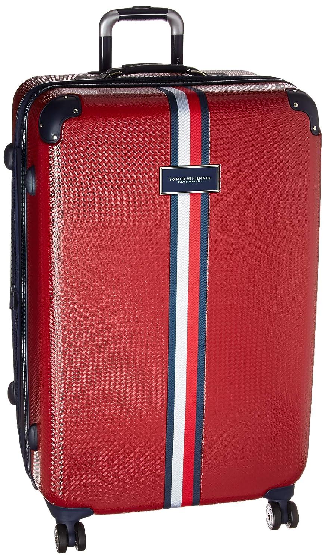 Tommy Hilfiger Basketweave Expandable Hardside Spinner Suitcase