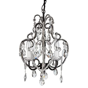 Tiffany black crystal beaded chandelier mini nursery plug in tiffany black crystal beaded chandelier mini nursery plug in pendant 4 light wrought iron aloadofball Gallery