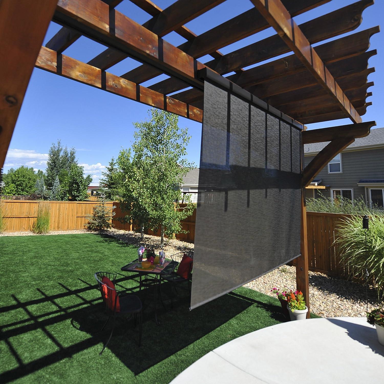 amazon com premium outdoor sun shade motorized remote 6 feet