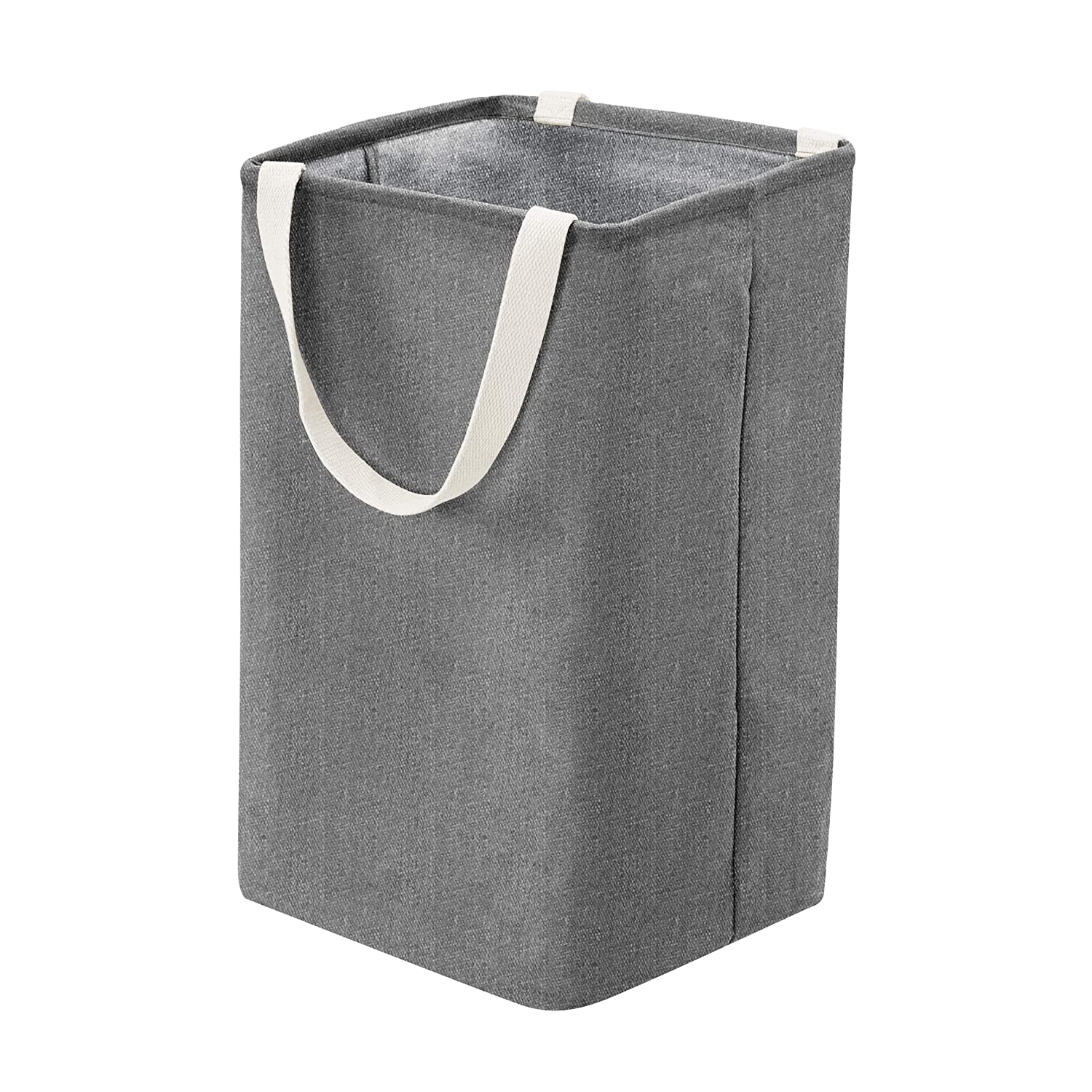 AmazonBasics Fabric Storage Bin - Tall Cube, Charcoal Grey