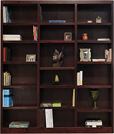 Amazon.com: Concepts In Wood 18 Shelf Triple Wide Wood Bookcase