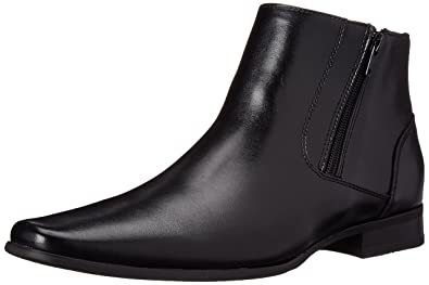 Amazon.com | Calvin Klein Men's Beck Leather Boot | Chelsea