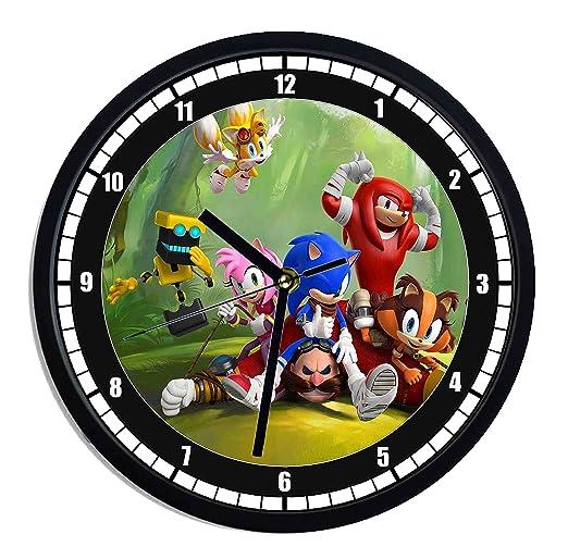 Reloj de pared de plástico Sonic Boom: Amazon.es: Hogar