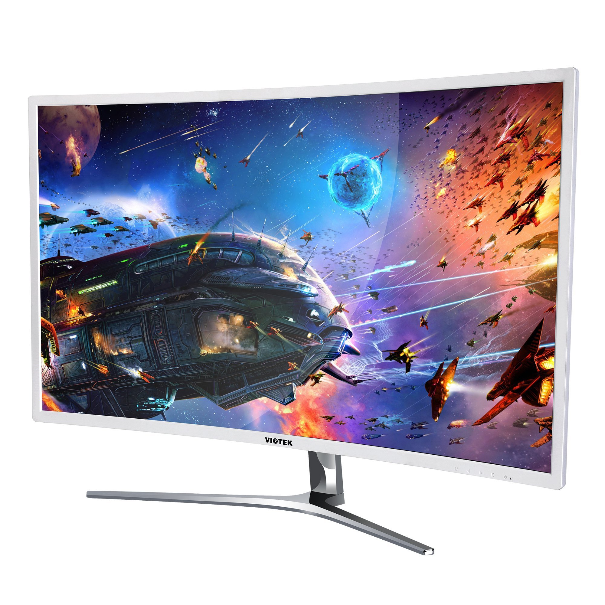 VIOTEK NB32C 32'' Curved Computer Monitor Full HD 1920 x 1080p Large Widescreen Samsung Panel With HDMI DVI VGA For Desktop PC