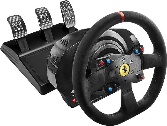 Comprar Thrustmaster T300 Ferrari Integral Alcantara Edition - Volante para PS4/PS3/PC, Force Feedback, 3 pedales, Licencia Oficial Ferrari