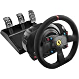 Thrustmaster T300 Ferrari Integral Alcantara Edition - Volante para PS4/PS3/PC, Force Feedback, 3 pedales, Licencia…