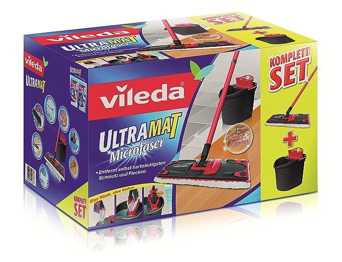 Vileda Ultramat PowerPress - Cubo de fregar con escurridor y mopa de microfibra: Amazon.es: Hogar