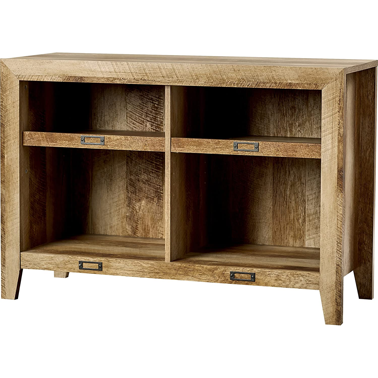 Amazon Rustic Oak TV Stand Farmhouse Style For Your Entertainment Space Country Inspired In Brown Finish Kitchen Dining