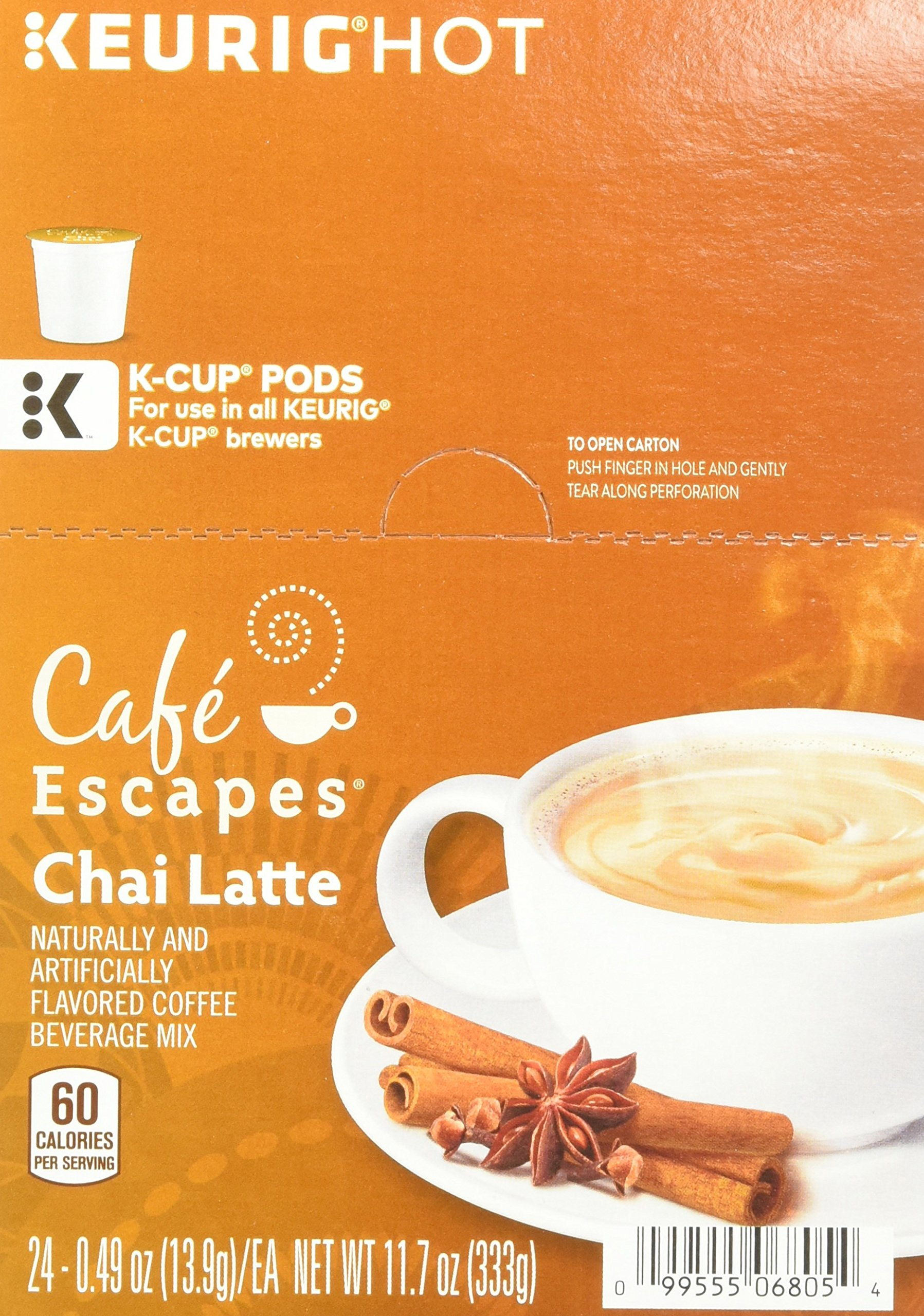 Cafe Escapes Chai Latte K-Cups, 11.7 oz, 96 Count by Café Escapes (Image #6)