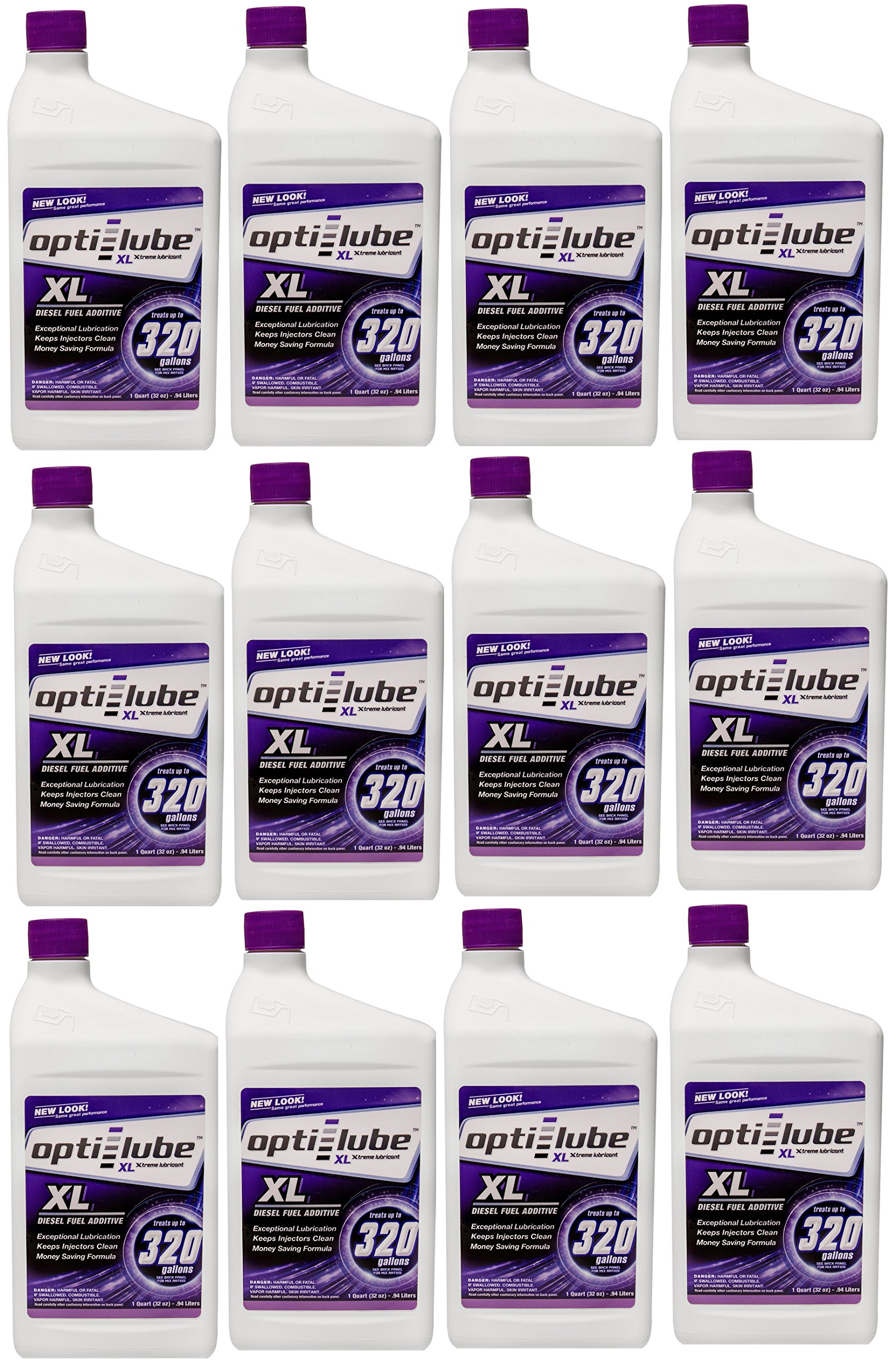 Opti-Lube XL Formula Diesel Fuel Additive: Quart, Case of 12. Each Quart Treats up to 320 Gallons of Diesel Fuel. by Opti-Lube