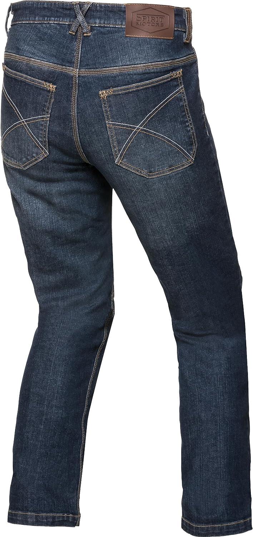 Spirit Motors Motorrad Jeans Motorradhose Motorradjeans Aramid-//Baumwolljeans mit Stretch 1.0 Chopper//Cruiser Textil Herren Ganzj/ährig