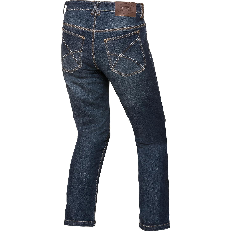 Spirit Motors Jeans Moto Pantalon de Moto Jean en aramide//Coton avec /étendue 1.0 Hommes Chopper//Cruiser Toute lann/ée