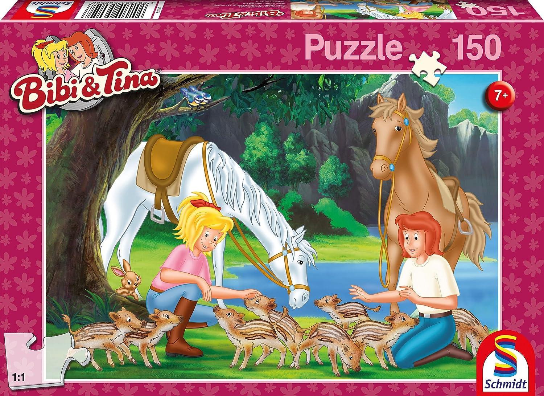 Schmidt Spiele Bibi & Tina Puzzle - Rompecabezas (Puzzle Rompecabezas, Dibujos, Niños, Bibi & Tina, Niño/niña, 7 año(s))