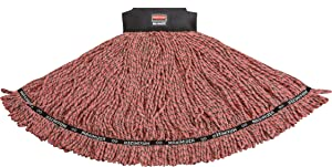Rubbermaid Commercial 1924786 Maximizer Mop Head, Blend, Large, Red