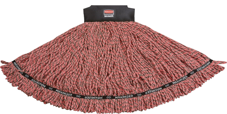 Rubbermaid Commercial 1924806 Maximizer Mop Head, Shrinkless Blend, Large, Red by Rubbermaid Commercial Products
